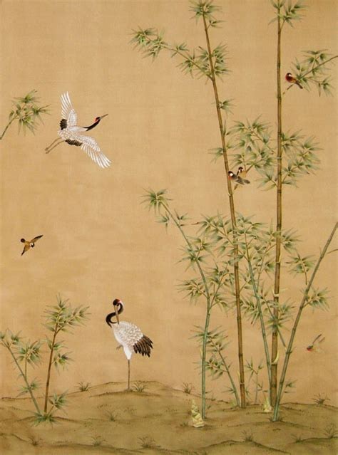 "Chinoiserie: wallpaper ""Crane Grove""   Historische"