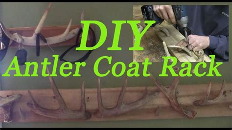 diy antler coat rack    antler jacket rack
