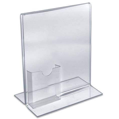 8 5 x 11 acrylic sign holder for table tops count of 10 vertical double sided stand up acrylic sign