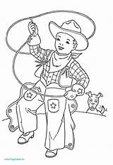 Cowgirl Coloring Cowboy Printable Getcolorings Charm sketch template