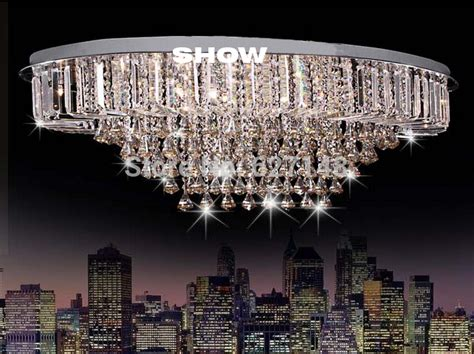 Hot Sales Large Modern Oval Crystal Chandelier Lighting