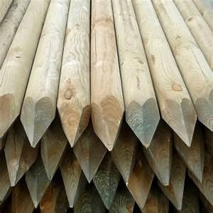 Poteau Bois Rond 3m : decoration paysagere traverses paysag res en bois ~ Voncanada.com Idées de Décoration