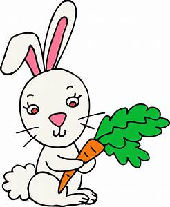 Rabbit bunny clipart black and white free clipart images ...