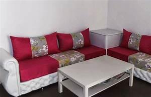 Banquette Salon Marocain : salon marocain vente salon oriental sur mesure pas cher ~ Teatrodelosmanantiales.com Idées de Décoration
