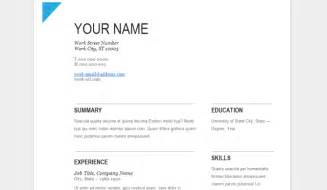 easy resume format docs how google docs can help you come across as a professional