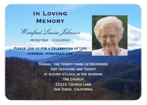 funeral invitation template planning template