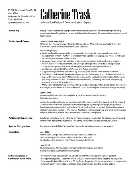 Communications Resume by Marketing Communication Specialist Resume Resumes