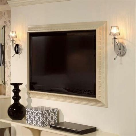 Furniture Fashion10 Super Cool Wall Mounted Tv Frames Ideas