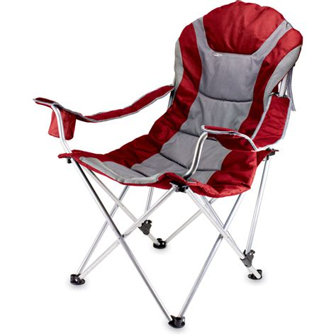 picnic time portable reclining c chair navy picnic time reclining c chair