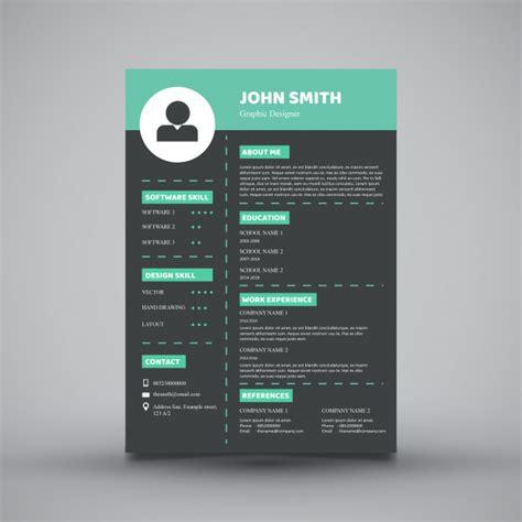 Modern Resume Design by Modern Resume Template Design Vector Premium