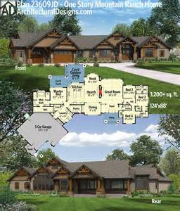 Delightful Ranch House Plans by Best 25 Mountain House Plans Ideas On