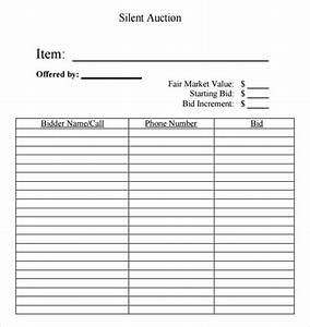 auction bid cards template - 6 silent auction bid sheet templates formats examples