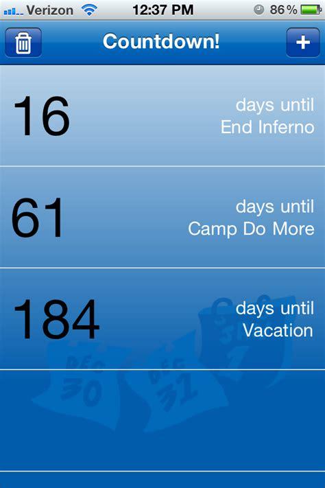 weight loss countdown calendar app