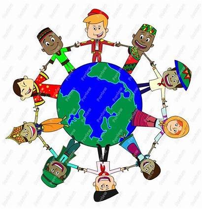 Children Clipart Cultures Holding Hands Around Clip