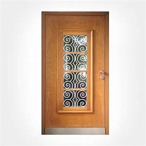 porte d39entree vitree design individuel offre en ligne With porte d entrée en bois vitrée