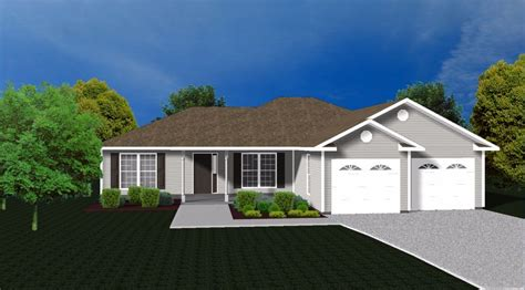3 bedroom ranch house floor plans house plans for 1585 sq ft 3 bedroom house w garage ebay