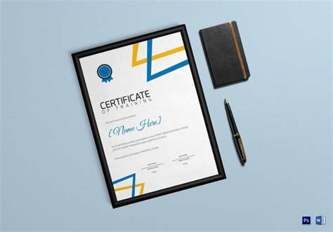 training certificate templates sample templates