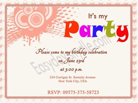 Birthday Invitation Wording  Birthday Party Invitations