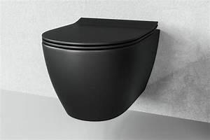 Toilette Schwarz Ablagerung : sp lrandlos h nge wc schwarz matt one bath ~ Eleganceandgraceweddings.com Haus und Dekorationen