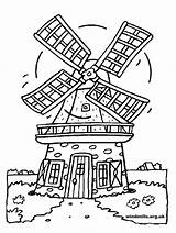 Colouring Windmill Windmills Colour sketch template