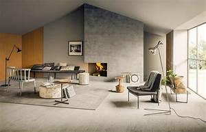 Progetto Soggiorno Con Camino Moderno  Free Living Moderno