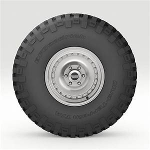 Off Road Wheel And Tire 6 3d Model