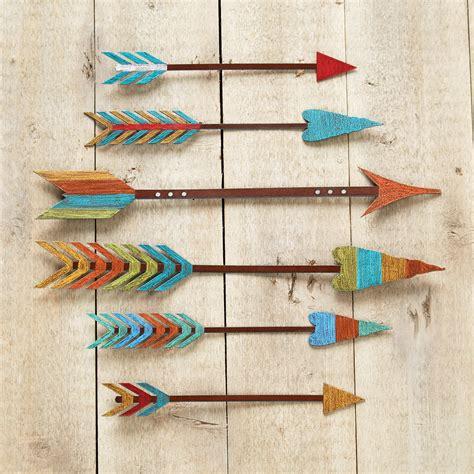 colorful wall decor colorful arrow metal wall