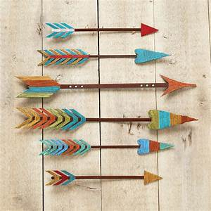 Colorful Arrow Metal Wall Art