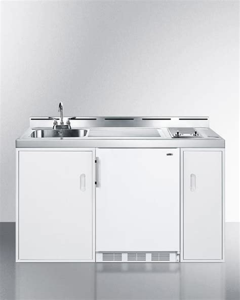 stainless steel stove and refrigerator summit c60elglass0 60 inch combination kitchen with 2