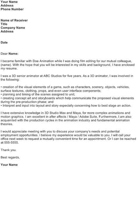 application letter sle free business