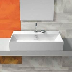 la vasque a poser rectangulaire en 67 photos inspirantes With salle de bain design avec grande vasque rectangulaire à poser