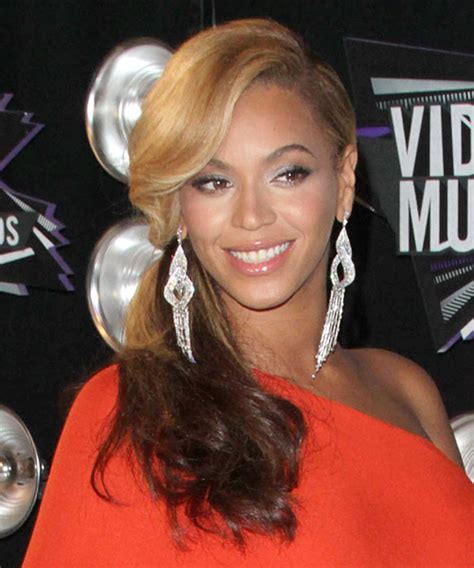 beyonce knowles long curly blonde  brunette  tone