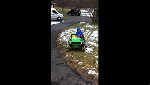 Peg Perego John Deere Gator Goes In Snow With Rubber Tires