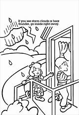 Tornado Coloring Pages Safety Printable Help Books sketch template