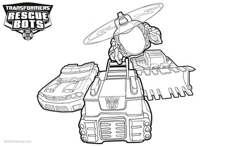 transformers rescue bots coloring pages vehicles