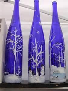 Glass Wine Bottle Painting Ideas