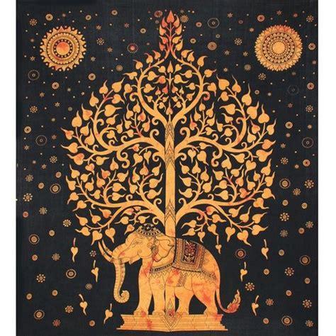 tenture murale arbre de vie tenture indienne motif 233 l 233 phant et arbre de vie tenture murale et or d 233 coration