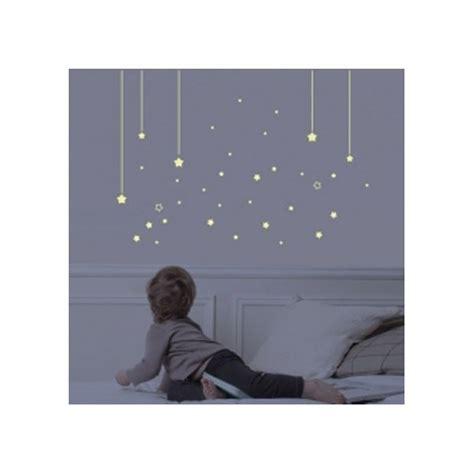 chambre theo et ines sticker chambre enfant phosphorescent mur d 39 étoiles