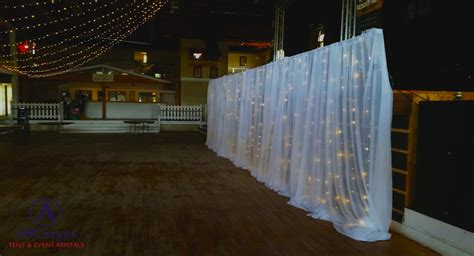 white backdrop with lights allcargos tent event rentals inc 10 x 10 white sheer