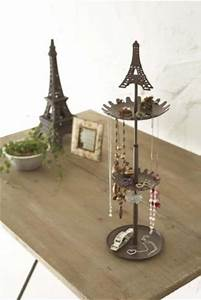 eiffel brown metal tower stand with tray for jewelry and With kitchen cabinets lowes with metal eiffel tower wall art
