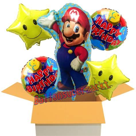 mario geburtstag ballon bouquet aus 5 folienballons mario happy