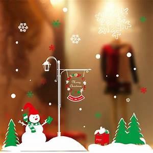 Diy christmas wall sticker home decor