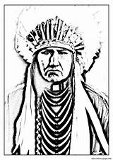 Coloring American Indians Indian Native Adult Popular sketch template