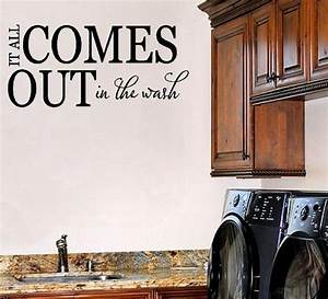 17 best ideas about laundry room sayings on pinterest With best brand of paint for kitchen cabinets with vinyl lettering wall art
