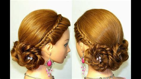 prom bridal hairstyles  long hair braided updo youtube