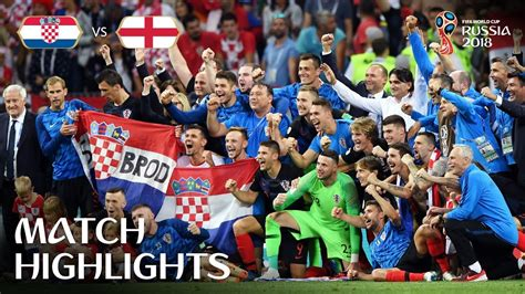 Croatia England Fifa World Cup Russia Match