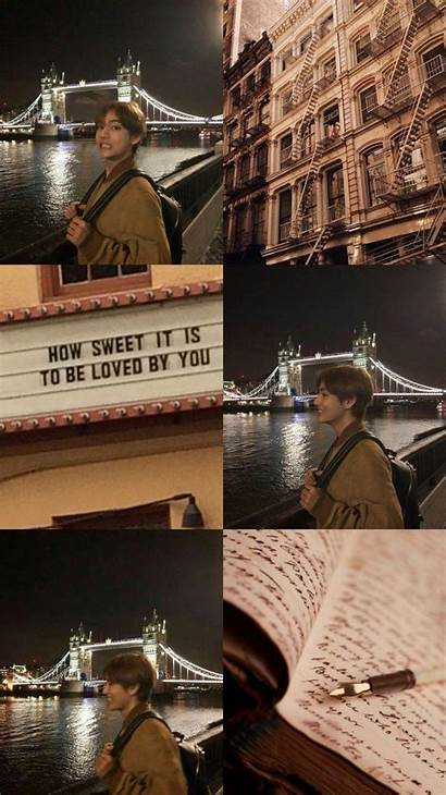 Aesthetic Brown Wallpapers Taehyung Bts Backgrounds Desktop