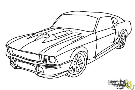 draw  ford mustang drawingnow