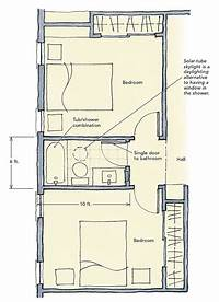 jack and jill bathroom floor plans Jack-and-Jill Bathrooms - Fine Homebuilding