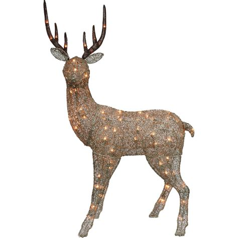 puleo lighted up deer yard decoration outdoor decor